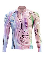 cheap -21Grams Men's Long Sleeve Cycling Jersey Spandex Polyester Pink Green Funny Bike Top Mountain Bike MTB Road Bike Cycling Quick Dry Moisture Wicking Breathable Sports Clothing Apparel / Stretchy