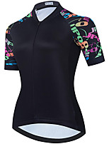 cheap -21Grams Women's Short Sleeve Cycling Jersey Summer Spandex Polyester Black Funny Bike Top Mountain Bike MTB Road Bike Cycling Quick Dry Moisture Wicking Breathable Sports Clothing Apparel / Stretchy