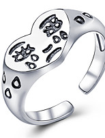 cheap -Ring Classic Silver Alloy Happy Stylish Simple Trendy 1pc Adjustable / Open Cuff Ring