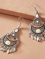 cheap -Women's Earrings Tassel Fringe Fashion Stylish Simple Romantic Classic Sweet Earrings Jewelry Silver For New Baby Gift Beach Festival 1 Pair