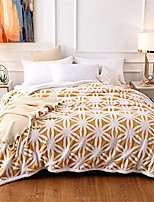 """cheap -fleece blanket bed couch sherpa blanket yellow white floral double sided throw blanket for sofa ultra-plush travel camping blanket, 59"""" 78"""""""