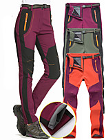 cheap -Women's Fleece Lined Pants Hiking Pants Trousers Softshell Pants Patchwork Winter Outdoor Thermal Warm Windproof Fleece Lining Breathable Pants / Trousers Red Army Green Burgundy Hunting Fishing