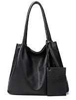 cheap -Women's Bags PU Leather Tote Zipper Daily Date Tote Handbags Baguette Bag Black