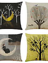cheap -Arty Double Side Cushion Cover 4PC Soft Decorative Square Throw Pillow Cover Cushion Case Pillowcase for Bedroom Livingroom Superior Quality Machine Washable Indoor Cushion for Sofa Couch Bed Chair