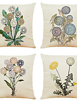 cheap -Floral Double Side Cushion Cover 4PC Soft Decorative Square Throw Pillow Cover Cushion Case Pillowcase for Bedroom Livingroom Superior Quality Machine Washable Indoor Cushion for Sofa Couch Bed Chair
