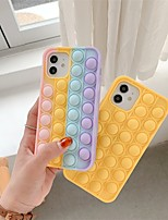 cheap -Phone Case For Apple Back Cover iPhone 12 Pro Max 11 SE 2020 X XR XS Max 8 7 6 Shockproof Dustproof Solid Colored Silicone