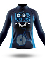 cheap -21Grams Men's Long Sleeve Cycling Jersey Spandex Polyester Dark Navy Gear Funny Bike Top Mountain Bike MTB Road Bike Cycling Quick Dry Moisture Wicking Breathable Sports Clothing Apparel / Stretchy