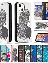 cheap -Phone Case For Apple Back Cover iPhone 12 Pro Max 11 SE 2020 X XR XS Max 8 7 Shockproof Dustproof Word / Phrase Graphic PU Leather