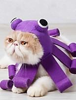cheap -Pet Halloween Hat Octopus Design Cat Cosplay Cap Christmas Parties Kitten Costume Purple for Family Party Halloween