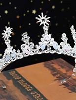cheap -Crown Tiara Bride Wedding Accessories Korean Crystal Handmade Beaded Princess Birthday Crown