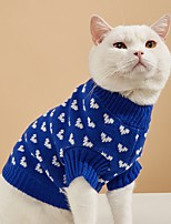 cheap -Dog Cat Sweater Puppy Clothes Dog clothes Heart Cute Sweet Dailywear Valentine's Day Winter Dog Clothes Puppy Clothes Dog Outfits Warm Red Blue Pink Costume for Girl and Boy Dog Knitted XS S M L XL