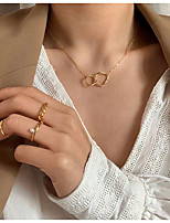 cheap -Women's Pendant Necklace Sexy Blessed Dainty Simple Classic Modern Copper Gold 41+4.5 cm Necklace Jewelry 1pc For Party Evening Street Sport Gift Formal