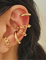 cheap -Ear Cuff Ear Clips Hollow Out Fashion Stylish Simple Elegant European Earrings Jewelry Gold For Party Evening Street Prom Date Festival