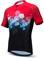 cheap -21Grams Men's Short Sleeve Cycling Jersey Summer Spandex Black / Red Bike Top Mountain Bike MTB Road Bike Cycling Quick Dry Moisture Wicking Sports Clothing Apparel / Stretchy / Athleisure