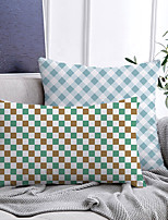 cheap -Checkered Double Side Cushion Cover 2PC Soft Decorative Square Throw Pillow Cover Cushion Case Pillowcase for Bedroom Livingroom Superior Quality Machine Washable Indoor Cushion for Sofa Couch Bed Chair