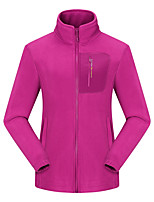cheap -Women's Hiking Softshell Jacket Hiking Windbreaker Hiking Fleece Jacket Fleece Softshell Polar Fleece Winter Outdoor Thermal Warm Windproof Quick Dry Lightweight Outerwear Trench Coat Top Skiing Ski