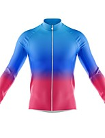 cheap -21Grams Men's Long Sleeve Cycling Jersey Spandex Purple Dark Purple Blue Gradient Bike Top Mountain Bike MTB Road Bike Cycling Quick Dry Moisture Wicking Sports Clothing Apparel / Athleisure