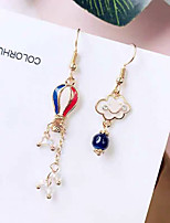 cheap -Women's Drop Earrings Earrings Mismatch Earrings Mismatched Clouds Hot Air Balloon Fashion Sweet Earrings Jewelry Gold For Gift Daily Holiday Prom Work 1 Pair
