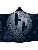 cheap -New Religious Series Plus Thick Plush Nesta Blanket Winter hooded Blanket Cloak Thick Double Plece Print Lazy Blanket