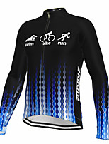 cheap -21Grams Men's Long Sleeve Cycling Jersey Spandex Polyester Black Gradient Funny Bike Top Mountain Bike MTB Road Bike Cycling Quick Dry Moisture Wicking Breathable Sports Clothing Apparel / Athleisure
