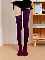 cheap -Fashion Comfort Women's Socks Multi Color Stockings Socks Warm Casual Purple 1 Pair
