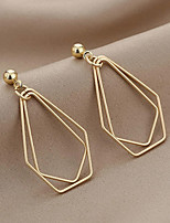 cheap -Women's Drop Earrings Earrings Classic Wedding Birthday Stylish Simple Cowboy Cool Hip Hop Earrings Jewelry Gold For Wedding Gift Date Promise Festival 1 Pair