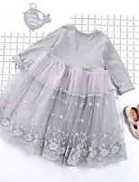 cheap -lace dress fashion beauty children soft long sleeve knitted new little girls floral dresses spring autumn 40zl k2