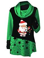 cheap -Women's Sports Dress Short Mini Dress Blue Gray Green Red Long Sleeve Print Geometric Print Fall Winter Turtleneck Casual Christmas 2021 S M L XL XXL 3XL