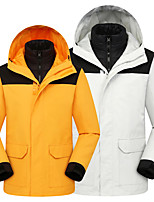 cheap -Women's Men's Hiking Down Jacket Hiking 3-in-1 Jackets Ski Jacket Winter Outdoor Thermal Warm Waterproof Windproof Quick Dry Outerwear Winter Jacket Trench Coat Skiing Ski / Snowboard Fishing Army