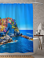 cheap -Waterproof Fabric Shower Curtain Bathroom Decoration and Modern and Classic Theme and Beach Theme.The Design is Beautiful and DurableWhich makes Your Home More Beautiful.