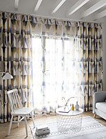 cheap -Two Panel American Style Abstract Pattern Printing Curtains Living Room Bedroom Dining Room Study Insulation Curtains