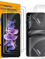 cheap -(3 sets)  soft tpu screen protector compatible for samsung galaxy z flip 3 5g, premium quality edge to edge (full coverage) high definition anti-scratch bubble-free (lifetime replacement)