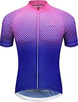 cheap -21Grams Men's Short Sleeve Cycling Jersey Summer Spandex Purple Polka Dot Gradient Bike Top Mountain Bike MTB Road Bike Cycling Quick Dry Moisture Wicking Sports Clothing Apparel / Stretchy