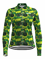 cheap -21Grams Women's Long Sleeve Cycling Jersey Spandex Green Bike Top Mountain Bike MTB Road Bike Cycling Quick Dry Moisture Wicking Sports Clothing Apparel / Stretchy / Athleisure