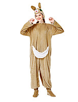 cheap -Uniforms Cosplay Costume Adults' Women's Pajamas Halloween Halloween Halloween Festival / Holiday Plush Fabric Terylene Brown Women's Easy Carnival Costumes Solid Color / Leotard / Onesie