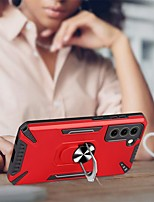 cheap -Phone Case For Samsung Galaxy Back Cover S21 S21 Plus S21 Ultra Galaxy M21s Galaxy F62 Galaxy M30s Galaxy M31 Galaxy M21 Galaxy M31s Galaxy M51 Shockproof Dustproof Ring Holder Solid Colored TPU