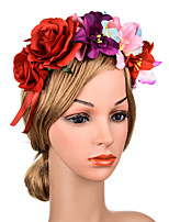 cheap -1 Piece Fabric Headband Mixed Color Rose Lily Adjustable Headwear Handmade Hair Accessories