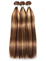 cheap -3 Bundles Hair Weaves Brazilian Hair Straight Human Hair Extensions Remy Human Hair Bundle Hair 8-28 inch