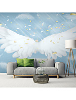 cheap -Mural Wallpaper Wall Sticker Covering Print Custom Peel and Stick Removable Self Adhesive White Angel Wings PVC / Vinyl Home Decor