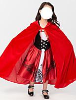 cheap -Little Red Riding Hood Dress Cosplay Costume Kid's Girls' Halloween Christmas Halloween Christmas Halloween Children's Day Festival / Holiday Terylene Red Easy Carnival Costumes Printing / Cloak