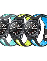 cheap -sport bands for samsung galaxy watch 3 45mm / galaxy watch 46mm / gear s3 frontier classic band, 22mm soft silicone breathable wristbands straps for women men (blue+green+teal, large)