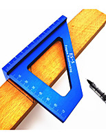 cheap -Aluminum Alloy Angle Ruler Blue Woodworking Scriber Woodworking Measuring Tool Woodworking Scriber 45 Degree Scriber