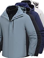 cheap -Men's Hiking 3-in-1 Jackets Ski Jacket Hiking Fleece Jacket Polar Fleece Winter Outdoor Patchwork Thermal Warm Waterproof Windproof Fleece Lining Hoodie Windbreaker Trench Coat Full Length Hidden