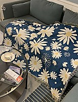 """cheap -daisy print blankets for women kids,soft warm cozy woven blanket jacquard tapestry (50""""x60"""")…"""