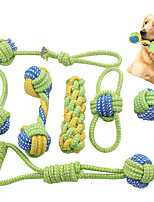 cheap -Dog Rope ToysPuppy Chew Teething Rope Toys Set of 7 Durable Cotton Dog Toys Squeak Toys for Playing Playtime and Teeth Cleaning Training Tug-of-War Balls Dog Bones