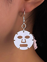 cheap -Face Mask Drop Earrings Earrings Classic Stylish Cartoon Classic Baroque Sweet Earrings Jewelry White For New Baby Gift Date Promise 1 Pair