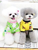 cheap -Dog Cat Sweatshirt Color Block Animal Adorable Cute Dailywear Casual / Daily Winter Dog Clothes Puppy Clothes Dog Outfits Warm Yellow Blue Pink Costume for Girl and Boy Dog Cotton S M L XL XXL