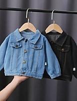 cheap -jackets children 's jacket 2021 spring autumn boys cute bear denim top girls' long sleeve toddler unisex casual clothes