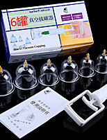 cheap -6 Pcs/set Vacuum Cupping Set Chinese Medical Cupping Cups Cans Suction Cup Therapy Back Body Detox Massage Anti Cellulite Massager