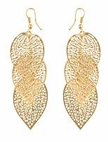 cheap -metal hollow leaf dangle earrings vintage bohemia hook earrings statement jewelry,gold